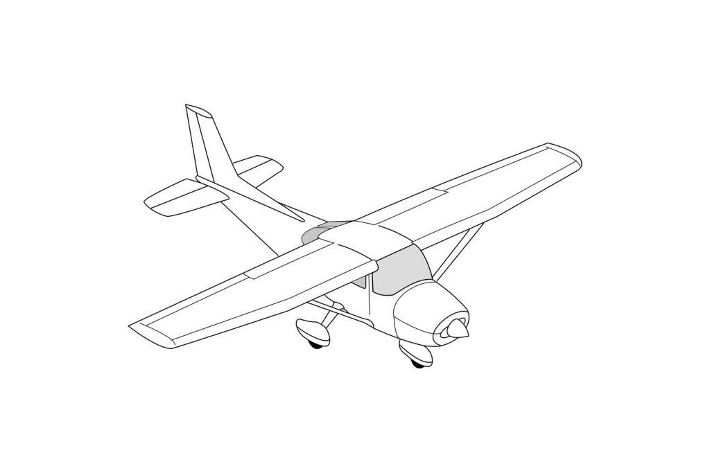 avion à colorier