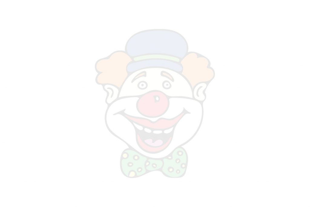 Coloriage de clown avec nez rouge