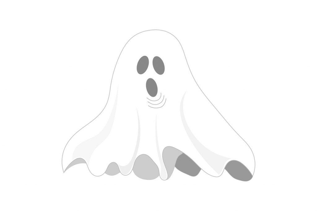 Coloriage de fantôme pour Halloween